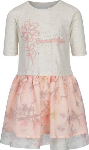 e0fdebf7ced3 Ružové krémové dievčenské šaty s výšivkou 5.10.15. - Glami.sk