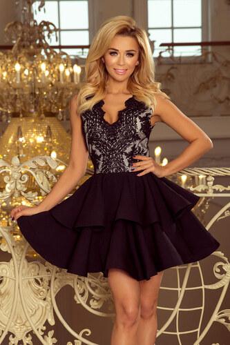 53eb3647be77 Strikingstyle 200-3 CHARLOTTE exkluzívne šaty   čierne - Glami.sk
