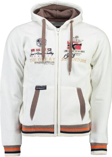 1dc057622b7 Geographical Norway Pánská mikina GRENOUILLE MEN 100 Off white ...
