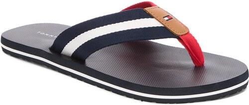 Žabky TOMMY HILFIGER - Beach Sandal With Stripes FM0FM01597 Midnight ... 524bad1c41