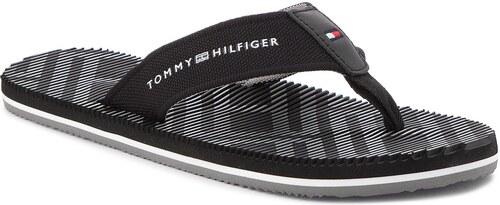 Tommy Hilfiger černé pánské žabky Corporate Stripe Beach Sandal Black - 42 adb639665ef
