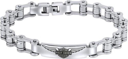 SILVEGO Ocelový náramek Harley Davidson design motorkářský KMMBH26525 158dd2dcfed