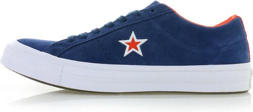 Converse Pánské tmavě modré kožené tenisky One Star Molded Star Story 3288a27efbd