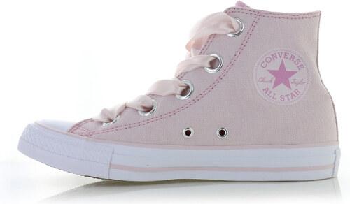 Converse Dámské světle růžové vysoké tenisky Chuck Taylor All Star Big  Eyelets Pastel Canvas d3c218459b4