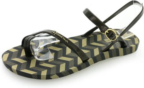 dfb86a06c Ipanema Čierno-zlaté sandále Fashion Sandal V - Glami.sk
