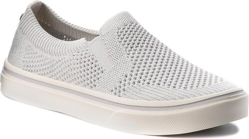 Tenisky TOMMY HILFIGER - Knitted Light Weight Slip On FW0FW03361 White 100 23c489f3b86