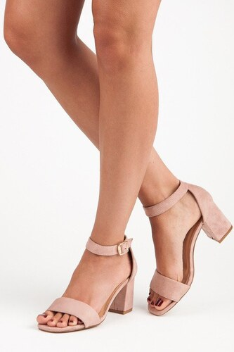 0642d885612c Ružové sandále na stĺpci Vinceza YQE18-1752P - Glami.sk