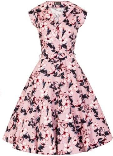 245fee948bf LADY VINTAGE Dámské retro šaty Florence růžový Ibišek - Glami.cz