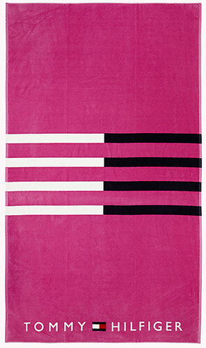 Osuška Tommy Hilfiger Stripe Print Růžová - Glami.cz 35f9a62e35
