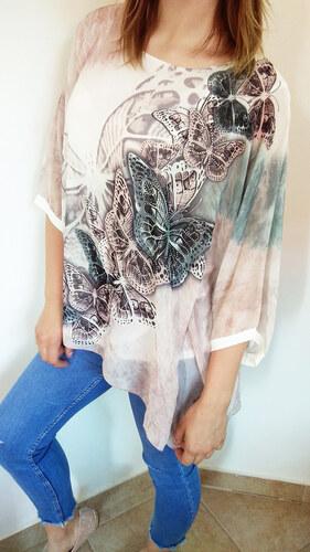 Made in Italy Letní tunika z hedvábí s motýly a třpytkami - Glami.cz 33751c276c