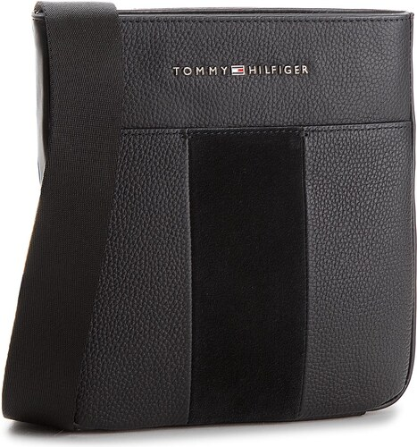 Válltáska TOMMY HILFIGER - Business Leather Mini Crossover AM0AM03185 002 a5d5195959