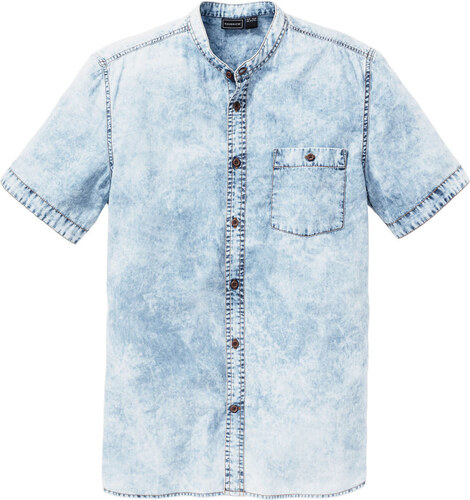 912b6650d54c Bonprix Džínsová košeľa s krátkym rukávom - Glami.sk