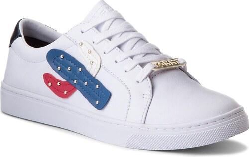 Sneakersy TOMMY HILFIGER - Embelish Essential Sneaker FW0FW03388 White 100 7b1aef3894