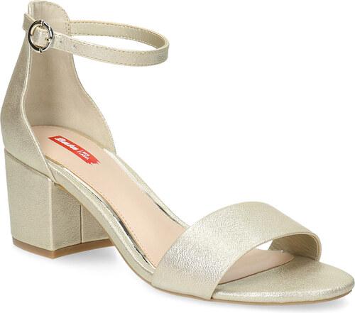 b3a6ae74340a Bata Red Label Zlaté dámske sandále na podpätku - Glami.sk