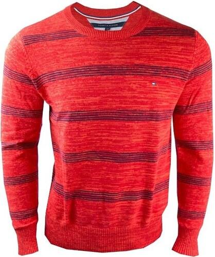 Tommy Hilfiger Pánský červený svetr Tommy Hilfiger - Glami.cz 2322af6a038