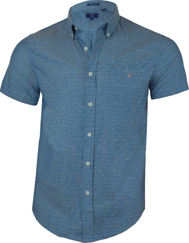 bbfe89bf77e Gant Pánská světle modrá košile s krátkým rukávem GANT - Glami.cz