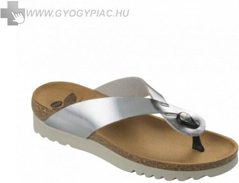 Scholl Kenna ezüst lábujjközi női papucs bioprint technológiával 37 ! f53677a878