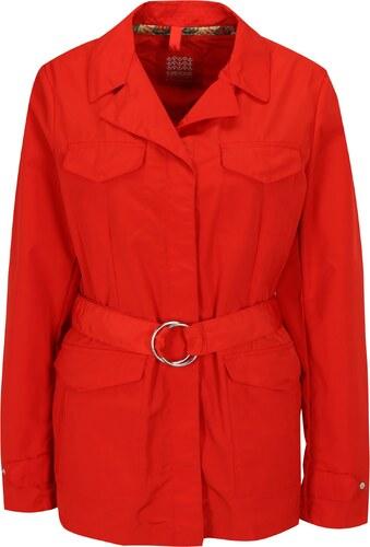 Červená dámska bunda s opaskom Geox - Glami.sk 813602d5d05
