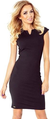 2d4a46c8d4e Numoco Elegantné šaty do práce čierne 132-3 - Glami.sk