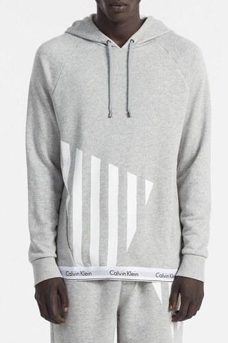 Calvin Klein šedá pánská mikina L S Hoodie s potiskem - S - Glami.cz 1cce70599c