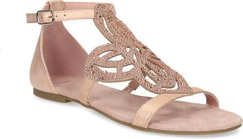 11826fe874df Bata Staroružové dámske sandále s kamienkami - Glami.sk