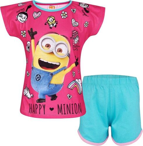 73ee09767c Lamaloli Happy Minion pink-türkiz pizsama - Glami.hu