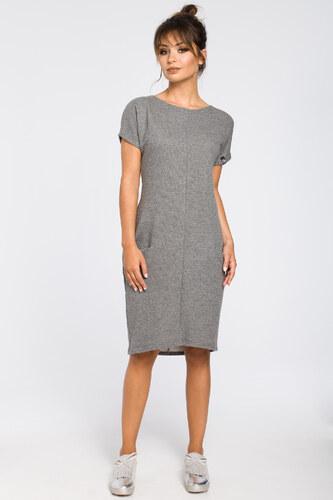 08fc614d5429 BeWear Dámské šaty B050 grey - Glami.cz