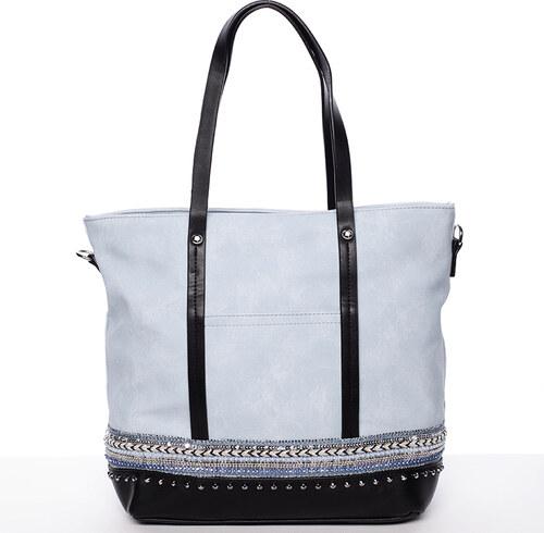 Atraktívna dámska kabelka cez plece modrá - Tommasini Melba modrá ... ef7a2ce08d1