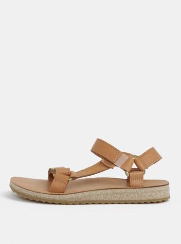 b125b7b63870 Světle hnědé dámské kožené sandály Teva - Glami.cz