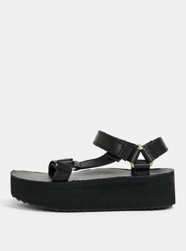2f849c748 Čierne dámske kožené sandále na platforme Teva - Glami.sk