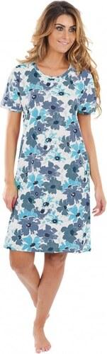 fcefeff9512 EVONA a.s. Dámske šaty KAMILA kvety modré - KAMILA 374 S ...