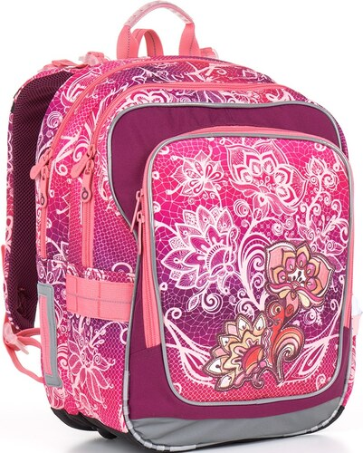 Školní batoh Topgal CHI 863 - H Pink Květiny - Glami.cz f7f3e05342