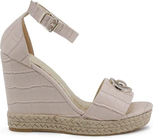 a8d00aa2b26 VERSACE Jeans Dámské sandály na klínovém podpatku Versace Jeans  VRBS33 70120 525 CIPRIA