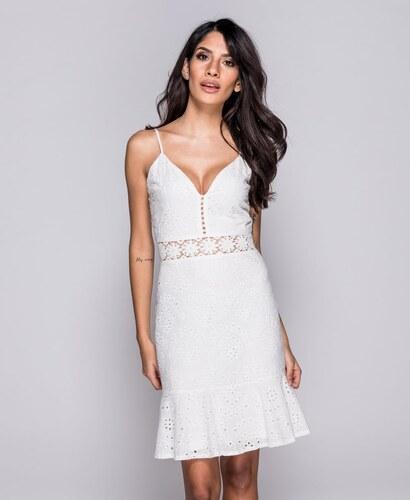 Parisian Letní bílé krajkové šaty AURA - Glami.cz 79ece9738d