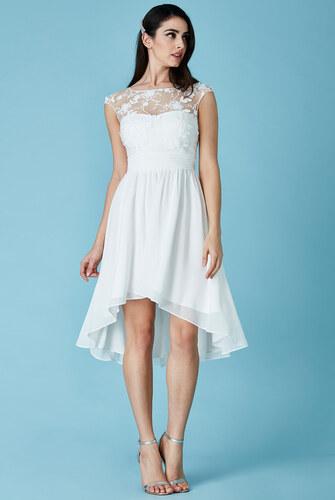 d37a3303e4d CITYGODDESS Společenské šaty Divine bílé se šikmou sukní - Glami.cz