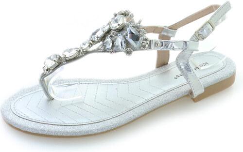 b215b51134b5 Ideal Strieborné sandále Aurora - Glami.sk