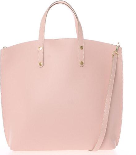 43181754cb Růžová kožená kabelka do ruky - ItalY Sydney růžová - Glami.cz