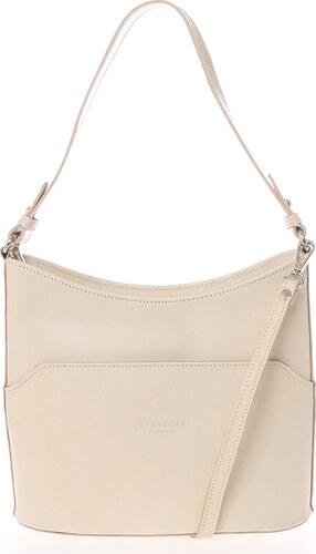 Béžová kožená kabelka přes rameno ItalY Lydia béžová - Glami.cz 872e06be2b1