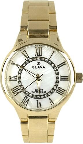 5fcb06c9574 Dámské hodinky SLAVA s mramorovým ciferníkem - Glami.cz