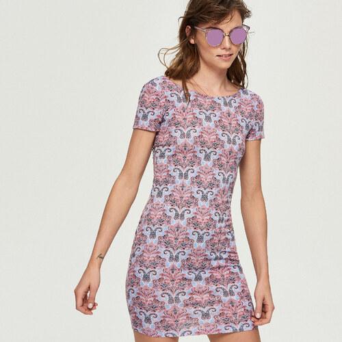 c8a682f5e24d Sinsay - Šaty s odhaleným chrbtom - Ružová - Glami.sk