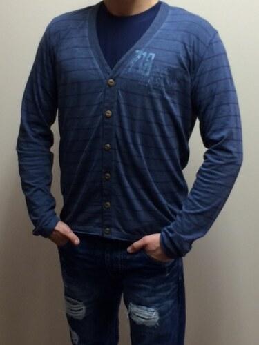 45c426205099 Replay Pánske tričko s dlhým rukávom - tmavomodré - Glami.sk