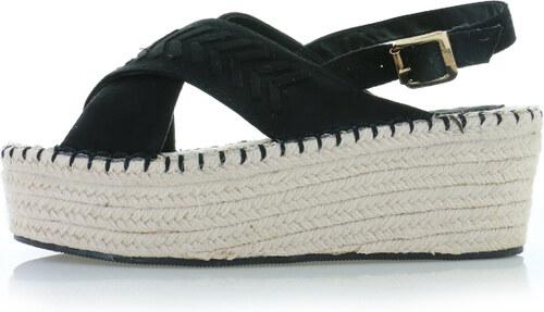 207caf43f61c Ideal Čierne platformové sandále Conie - Glami.sk