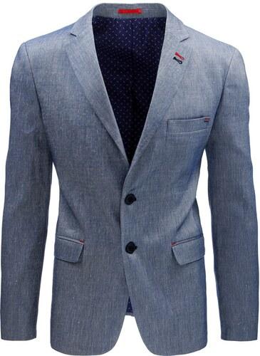 8f31296643 Pánske športové sako v jeansovej farbe - Glami.sk