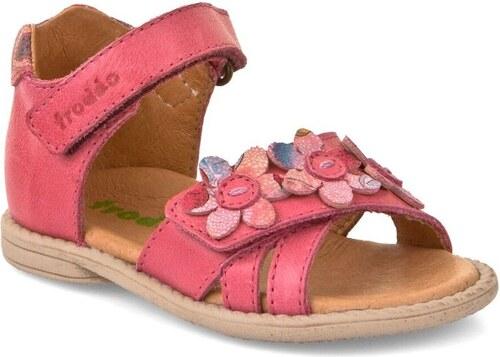6e7a3e84a2ef Froddo Dievčenské sandále s kvietkami - ružové - Glami.sk