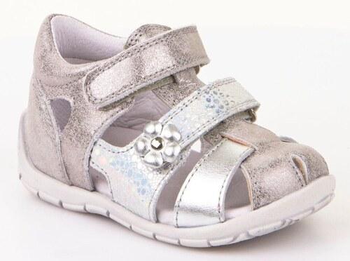 Froddo Dívčí sandály s kytičkou - stříbrné 8561696b29