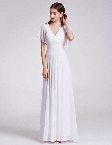 Společenské šaty bílé Ever Pretty 9890 - Glami.cz cb31a38669