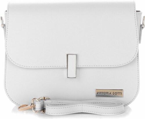 Kabelka listonoška na každý den Vittoria Gotti bílá - Glami.cz e2f4198003