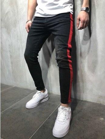 Starmy Pánské černé džíny s červeným pruhem - Glami.cz 3de02ff2fd
