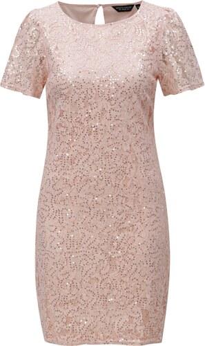 Světle růžové krajkové šaty s flitry Dorothy Perkins - Glami.cz 3a11eaebac