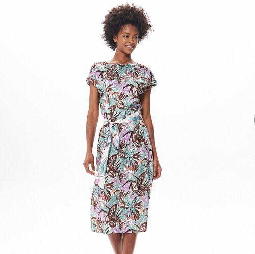 40da943a33 Reserved - Mintás midi ruha - Többszínű - Glami.hu